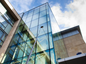 hotel window cleaning glasgow with long reach water fed pole window  cleaners Glasgow